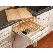 Rev-A-Shelf Kitchen Knife Block with Cutting Board Drawer System for 24'' Cabinets