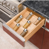 Rev-A-Shelf Wood Spice Kitchen Drawer Insert, Maple, for Base Cabinet 18'' or Smaller