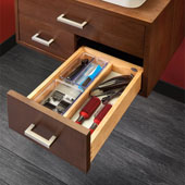 Rev-A-Shelf Single Vanity Drawer for 15'' Frameless Cabinet, 13-1/2''W x 18-11/16''D x 4-5/16''H