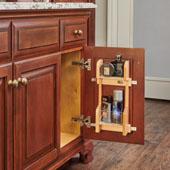Rev-A-Shelf Vanity Door Mounted Organizational Storage Rack, for 12'' Base Cabinet, 8-1/4''W x 3-1/8''D x 15-1/2''H