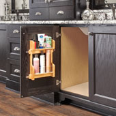 Rev-A-Shelf Vanity Door Mounted Organizational Storage Rack, for 18'' Base Cabinet, 14-1/2'' to 18-3/4''W x 3-1/8''D x 15-1/2''H