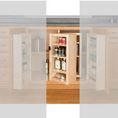 Rev-A-Shelf 25'' H Swing Out Unit for Chef's Pantry With Hardware, Single, Min Cab Opening: 12-1/8''W x 7-3/4''D x 25-1/8''H