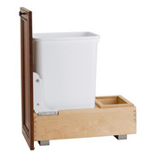 Rev-A-Shelf Bottom Mount Pull-Out Waste Bin - 35 Quart (8.75 Gallon), Min. Cabinet Opening: 11-3/4''  Wide