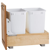 Rev-A-Shelf Bottom Mount Pull-Out Twin Waste Bin - 2 / 35 Quart (2 / 8.75 Gallon), Min. Cabinet Opening: 15''  Wide