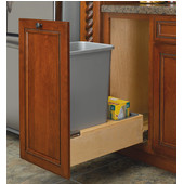 Rev-A-Shelf Bottom Mount Single 50 Quart (12.5 Gallon) Waste Bin with Rev-A-Motion Slides, Min. Cabinet Opening: 11-3/8''  Wide