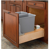 Rev-A-Shelf Double 30 Quart (7.5 Gallon) Waste Bins w/Rev-A-Motion Slides, Min. Cabinet Opening: 20-3/8''  Wide