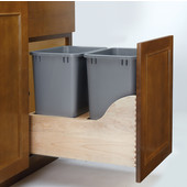 Rev-A-Shelf Double Bin Waste Container with Blum's TANDEM Heavy Duty Slides with BLUMOTION Soft Close, Min. Cabinet Opening: 15'' or 18''  Wide