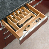 Rev-A-Shelf Wood Cutlery Tray Drawer Insert for Kitchen or Dressing Table, 20-5/8''W x 22''D x 2-3/8'' or 2-7/8''H