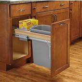 Rev-A-Shelf Single Soft-Close Wood Top Mount Waste Bin, Min. Cabinet Opening: 12''  Wide