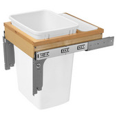 Rev-A-Shelf 35 Quart (8.75 Gallon) Single Bin Top Mount Pull-Out White Waste Bin for 1-5/8'' Frame Cabinet, Min. Cabinet Opening: 15'' Wide