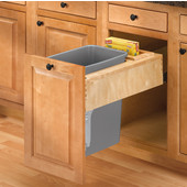 Rev-A-Shelf ''Rev-A-Motion'' Single Pull-Out Trash or Recycle Bin, 35 Quart (8.75 Gallon), Min. Cabinet Opening: 14-1/2''  Wide