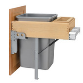 Rev-A-Shelf ''Rev-A-Motion'' Single Pull-Out Trash or Recycle Bin, 50 Quart (12.5 Gallon), Min. Cabinet Opening: 14-1/2''  Wide