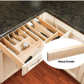 Rev-A-Shelf Wood Divider (Accessory) for Combining Wood Drawer Inserts, 1/2''W x 22''D x 2-3/8'' or 2-7/8''H