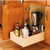 Rev-A-Shelf 15'' Kitchen Base Cabinet Wood Pull-Out Drawer on � Euro Extension Sllides, Min Cab Opening: 14-1/8'' W x 22-3/4'' D x 5-3/4'' H