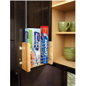 Rev-A-Shelf Vertical Foil Rack for 15'' - 21'' Kitchen Cabinets, Min Cab Opening: 10-1/4'' W x 4-1/4'' D x 8-1/8'' H