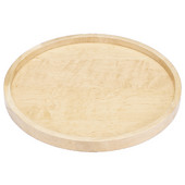 Rev-A-Shelf ''Wood Classic'' Full Circle Single Shelf Lazy Susan with Swivel Bearing w/ Stop Attached to Shelf, 10'' - 32'' Diameters Available