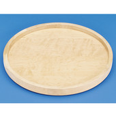 Rev-A-Shelf ''Wood Classic'' 20'' Diameter Full Circle Single Shelf Lazy Susan, Shelf Not Drilled