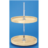 Rev-A-Shelf ''Wood Classic'' 22'' Diameter Full Circle Independently Rotating 2-Shelf Lazy Susan For Base Corner Cabinet