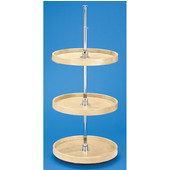 Rev-A-Shelf ''Wood Classic'' Full Circle Independently Rotating 3-Shelf Lazy Susan For Upper Kitchen Corner Cabinet, 18'' - 20'' Diameters Available