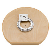 Rev-A-Shelf ''Wood Classic'' 31'' Diameter D-Shape Single Susan with Swivel Bearing and Stop Attached to Shelf