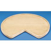 Rev-A-Shelf ''Wood Classic'' Kidney-Shaped Single Shelf Lazy Susan, Shelf Not Drilled, 24'' - 32'' Diameters Available
