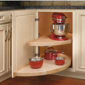 Rev-A-Shelf ''Wood Classic'' Half-Moon Pivot and Slide 2-Shelf Lazy Susan for Blind Corners, 32'' - 38'' Sizes Available