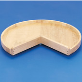 Rev-A-Shelf ''Wood Classic'' 28'' Diameter Pie-Cut Single Shelf Lazy Susan, Drilled For RAS Hardware