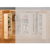 Rev-A-Shelf 25'' H Swing Out Chef's Pantry Door Unit With Hardware, Single, Min Cab Opening: 12-1/8''W x 4-1/4''D x 25-1/8''H