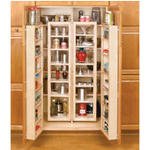 Rev-A-Shelf Swing-Out Tall Kitchen Cabinet Chef's Pantry (2 Swing-Out Pantries & 2 Door Units), 45'' - 57'' Heights, Min Cab Opening: 30''W x 12-1/2''D x 45-3/4''H
