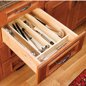 Rev-A-Shelf Wood Utensil Tray Drawer Inserts for Kitchen or Vanity, 18-1/2'' W x 22'' D x 2-3/8'' or 2-7/8''H