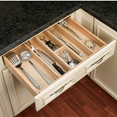 Rev-A-Shelf Wood Utensil Tray Drawer Inserts for Kitchen or Vanity, 24'' W x 22'' D x 2-3/8'' or 2-7/8''H