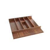 Rev-A-Shelf Trimmable Walnut Utility Tray Insert For Frameless Cabinets - 22-1/8''W x 22''D, Satin Finish
