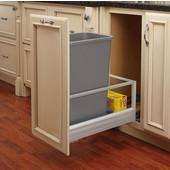 Rev-A-Shelf Single Bin Door Mount Rev-A-Motion Waste Container in Silver, Min. Cabinet Opening: 11-1/2''  Wide