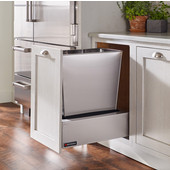 Rev-A-Shelf Single Majestic Chassis with Rev-A-Motion Soft Close Assist for 74 Quart Waste Container (Not Included), Stainless Steel, 16-3/4''W x 22-11/16''D x 8''H
