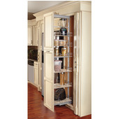 Rev-A-Shelf Pullout Pantry with Baskets & Door Mount Brackets, Maple/Chrome, Numerous Choices Available