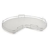 Rev-A-Shelf Kidney Shape Single Shelf Lazy Susan for 32'' Kidney Corner Base Cabinet, Gray, with Aluminum Bearing
