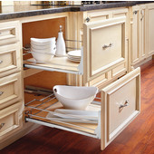 Rev-A-Shelf Soft-Close Pullout Drawer with Maple Shelf, 15'' - 33'' Widths, Min Cab Opening: 14-1/4''W x 22-1/4''D x 4-7/8''H