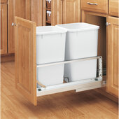 Rev-A-Shelf ''Premiere'' Double Bin Pull-Out Waste Container, Min. Cabinet Opening: 11-3/4''  Wide