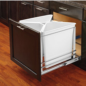 Rev-A-Shelf Soft-Close Trash White Recycle Center - 75 Quart (18.75 Gallon), Min. Cabinet Opening: 20-3/16''  Wide