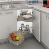 Rev-A-Shelf ''The Cloud'' Two-Tier Blind Corner Cabinet Organizer, Maple, Different Sizes Available