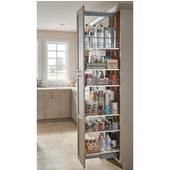 Rev-A-Shelf Pantry Pullout with 4 Baskets and Gray Solid Bottom, 8-1/4''W x 21-11/16''D x 43-13/32'' - 50-3/4''H, with Full Extension Soft-Close Slides