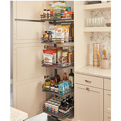 Rev-A-Shelf Fog Series Swing Out Flat Wire Pantry with 5 Shelves, Orion Gray, for 18'' Cabinet, 14-1/4''W x 18-1/2''D x 74-1/16''H