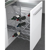 Rev-A-Shelf Wine Base Organizer, Chrome Wire Finish, 14-1/8''W x 17''D x 25-3/4''H, Min Cab Opening: 14-1/4'' W x 17-1/4'' D x 25-7/8'' H