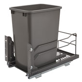 Rev-A-Shelf Undermount Waste Container Single 35 qt (8.75 Gallon), Orion Gray Bin, Min. Cabinet Opening: 11-1/2''  Wide