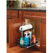 Rev-A-Shelf Under Sink Chrome Caddy, 11 1/4'' W x 16 1/4'' D x 19 1/2'' H, Chrome, Min Cab Opening: 11-1/4'' W x 16-1/2'' D x 19-1/2'' H