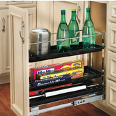 Rev-A-Shelf Chrome Pull-Out Organizer for Kitchen Base Cabinet, 7-3/4'' W x 22-1/2'' D x 19-1/4'' H