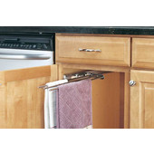 Rev-A-Shelf Chrome 3-Prong Pull-Out Towel Bar, Min Cab Opening: 5-1/8''W x 18''D x 1-3/8''H