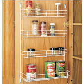 Rev-A-Shelf Door Mount Wire Spice Rack, White, Multiple Sizes Available