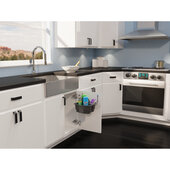 Rev-A-Shelf Door Mount Cleaning Caddy for 24'' Sink Base Cabinet, Black