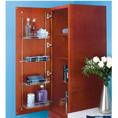 Rev-A-Shelf Linen Rack for Door Mounting in Bathroom or Vanity, Min Cab Opening: 12-3/8'' W x 5-1/4'' D x 46-7/8'' H